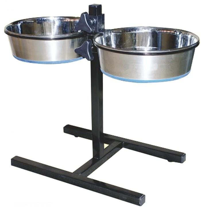 Durapet Adjustable Double Pet Diner Twin Stainless Steel
