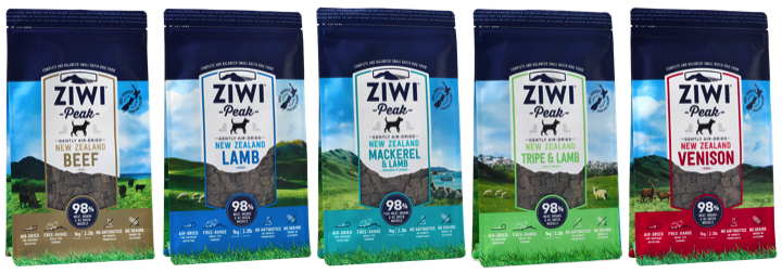 Ziwi Peak Air-dried Natural Dog Food.  All the benefits of the RAW BARF diet in a shelf stable convenient form