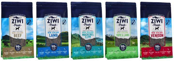 New Ziwi Peak air-dried dog food, including new Tripe and Fish formulas