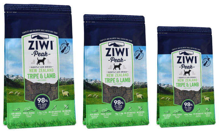Ziwi Peak Trip and Lamb, ideal for dogs on a RAW BARF Diet