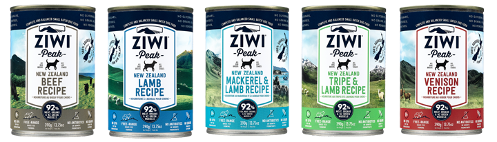 Ziwi Peak canned food for dogs - new recipe, carrageenan-free, TSPP-free