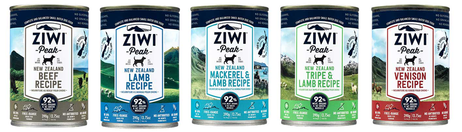 ZIWI Peak canned dog food, Carrageenan-free, BPA-free, TSPP-free