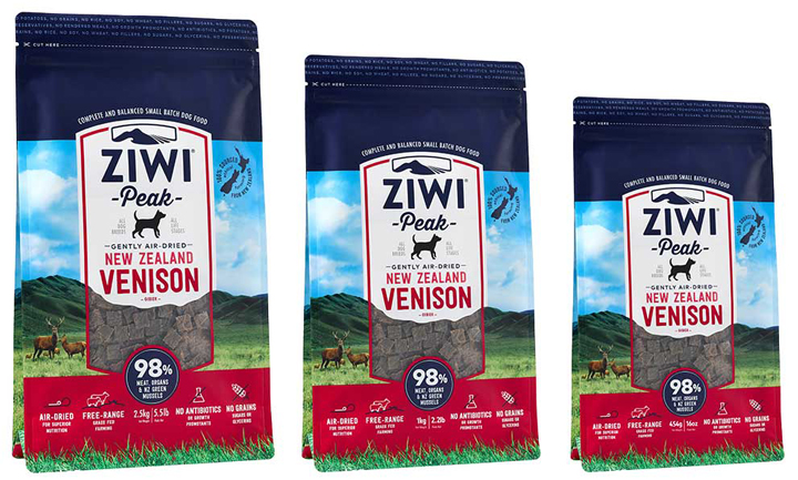 ZIWI Peak air-dried Venison dog food