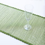 Table Runner Tinsel Green