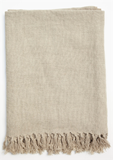 Linen Throw Flax