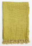Linen Throw Chartreuse