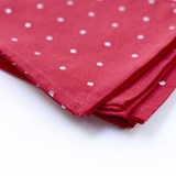 Napkins Tinsel Spot Red