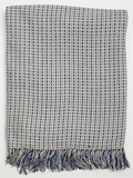 Basket Weave Blanket Washed Blue