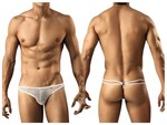 Mens White Mesh G string