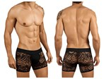 Mens Black Lacey Boxer Shorts