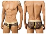 Black Open Mesh Mens Brief