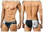Black & Silver Zipper Brief