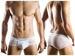 Mens White Mesh Bars Brief