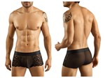 Black Lace & Mesh Boxer Brief