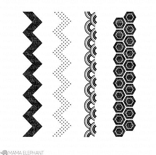 mama elephant | design blog: Stamp Highlight: Modern Borders