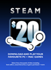 Steam Wallet US$20