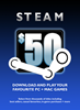 Steam Wallet US$50