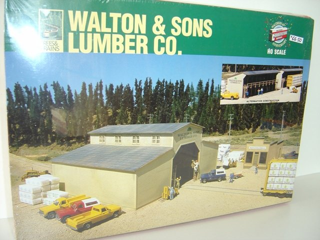 Walthers Cornerstone Ho Scale Kit Walton Amp Sons Lumber