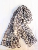 Silk scarf with Roman mosaic