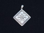 Filigree square pendant