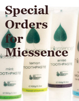 Special orders Miessence Certified Organic