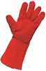 Supertouch Standard Leather Gauntlet - Red - EN388 (2122) & EN407 (4144) - Pair - [ST-20923]