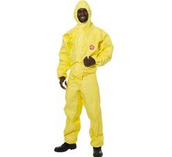 Dupont Tyvek - Tychem C Standard Hooded Coverall - EN 14126 Category 3, Type 3,4,5,6, EN 1149-1:1995 Type 3B. EN1073-2 - HL-382113