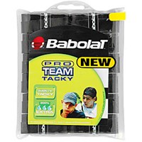 Babolat Pro Team Tacky Overgrip 12 pack black,Sale $19.95