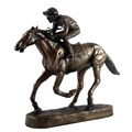 Bronze Horse and Jockey Ornament