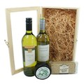 White Wine and Cheese Gift Box