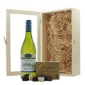 Gift Boxed White Wine and Chocolates