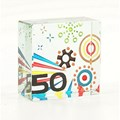 50th Birthday Celebration Cube