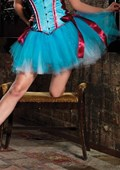 Turquoise Petticoat Skirt