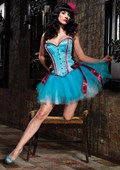 Turquoise Mariela Corset with Lace Up Sides