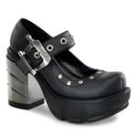 Chrome Heel Gothic Maryjane Shoe