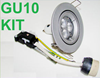 240V LED DOWNLIGHT LAMP FITTING HOLDER METAL GU10