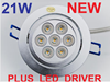 21W DIMMABLE LED COMPLETE SPOT LIGHT 240V KIT (120 deg)