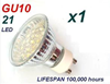 240V GU10 SPOT DOWNLIGHT 21 LED BULB GLOBE WARM/WHITE