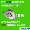 18W DIMMABLE LED COMPLETE DOWNLIGHTS SPOT 240V KIT