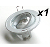DOWNLIGHT FITTING HOLDER FOR SPOT LED LIGHTS WHITE