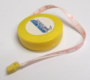 Tackle world retractable fish measure tape 150cm shop for Fish measuring tape