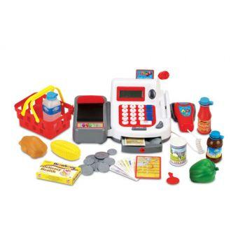 Pretend Play Shop Cash Register with Scanner & Accessories