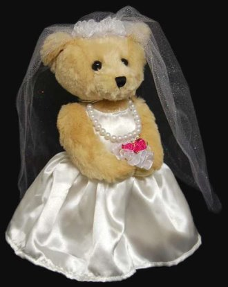 Teddy Wedding Bears: Bride or Groom