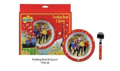 Wiggles Childrens Feeding Bowl and Spoon set