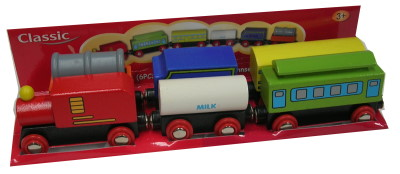 Classic Wooden 6 pc Train