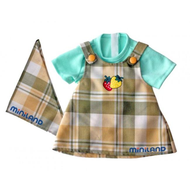 Miniland Educational -  Dolls Checked Dress Outfit 32cm Dolls