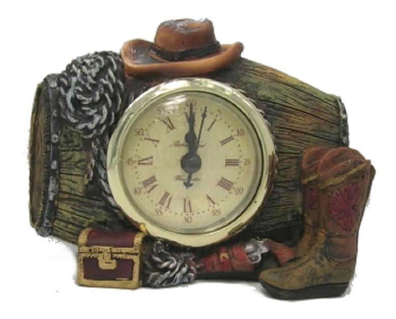 Cowboy Boots Hat & Ropes Clock