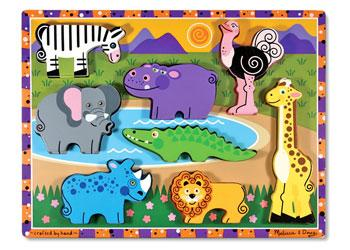 Melissa & Doug Safari Animals Chunky Wooden Puzzle