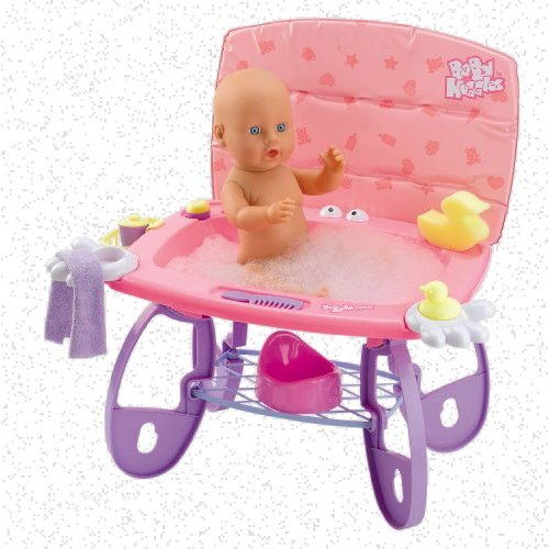 Baby Huggles Bathtime Changer - Dolls Change Table with Bath
