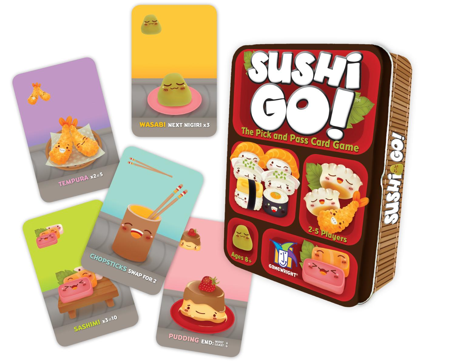 Sushi Go! The Pick and Pass Card Game by Gamewright